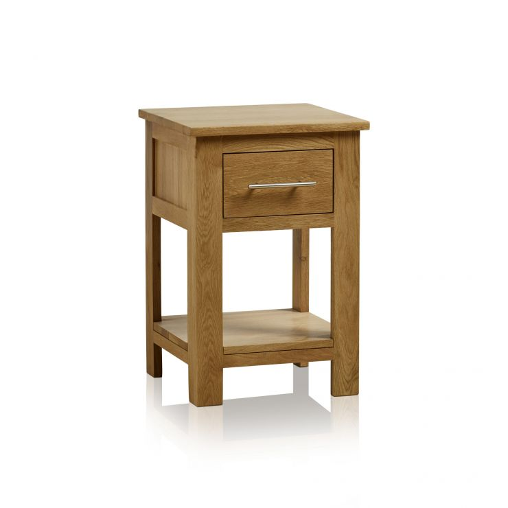Rivermead Natural Solid Oak 1 Drawer Side Table - Image 1