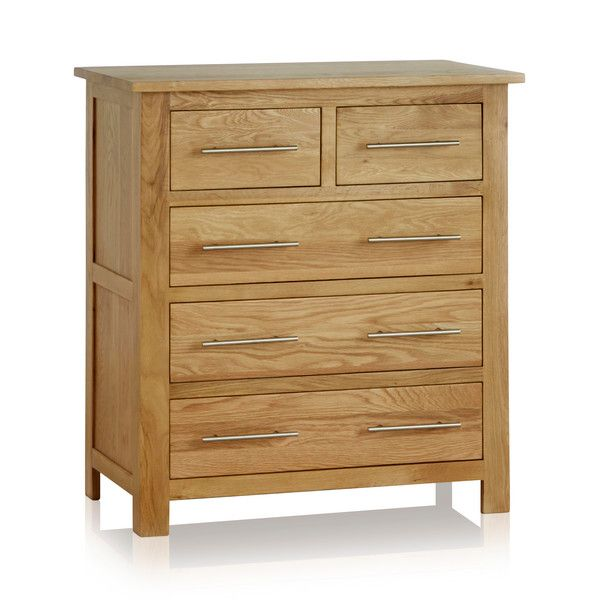 Rivermead Natural Solid Oak 5 Drawer Chest