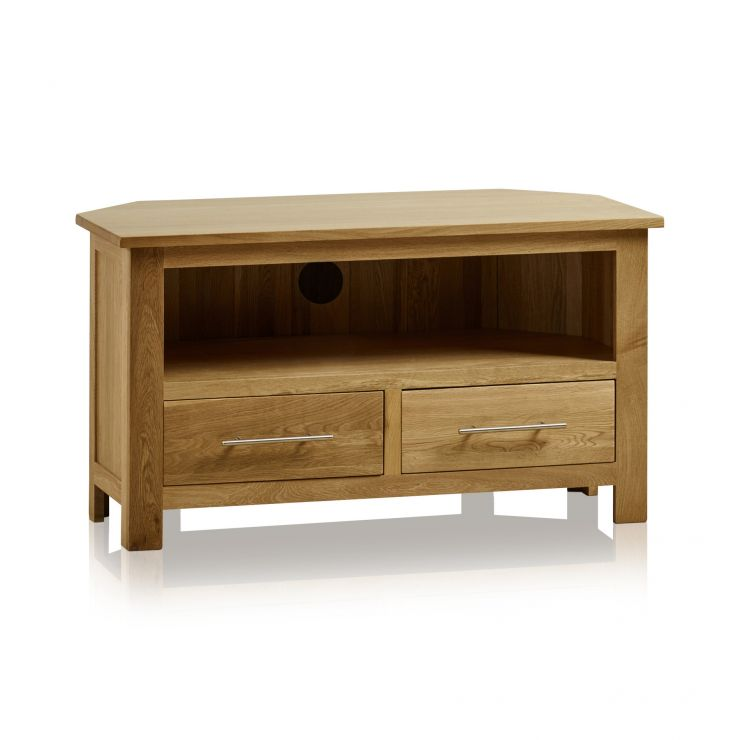 Rivermead Natural Solid Oak Corner TV Cabinet - Image 4