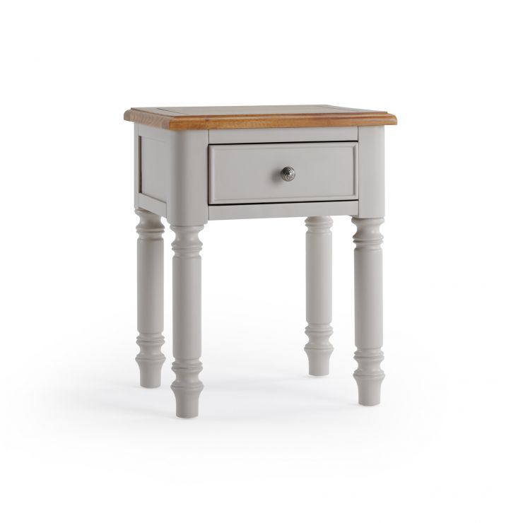 Roman Rustic Solid Oak & Painted 1 Drawer Bedside Table