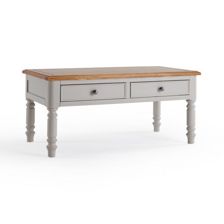 Roman Rustic Solid Oak & Painted Coffee Table