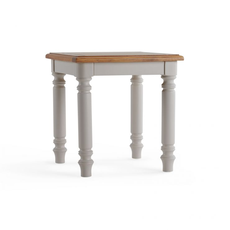 Roman Rustic Solid Oak & Painted Side Table