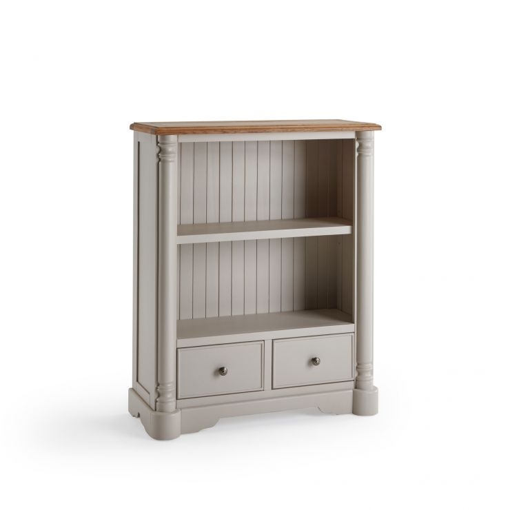 Roman Rustic Solid Oak & Painted Small Bookcase