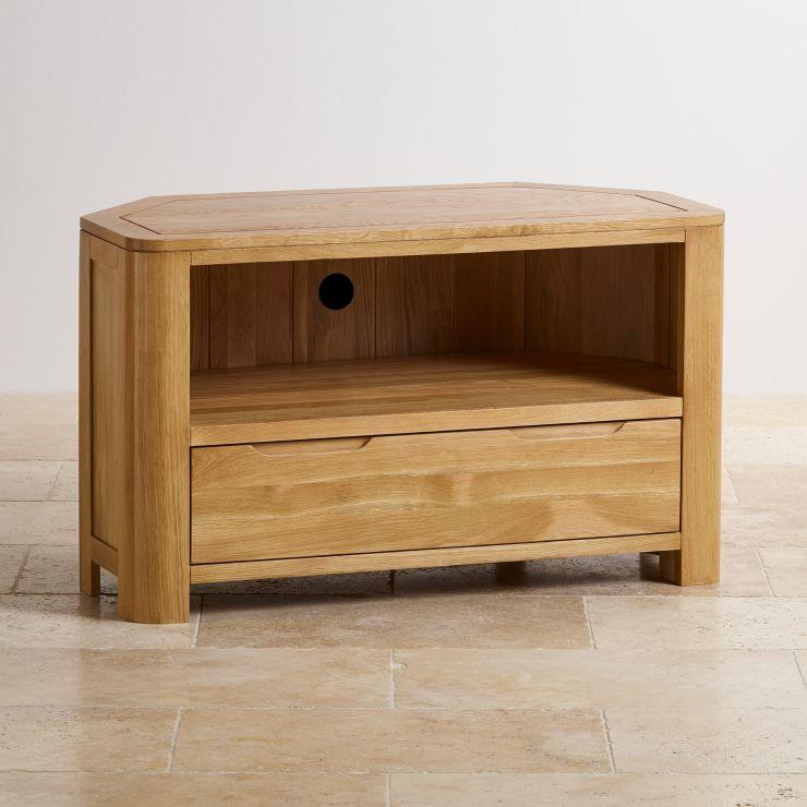 Romsey Natural Solid Oak Corner TV Unit - Image 5