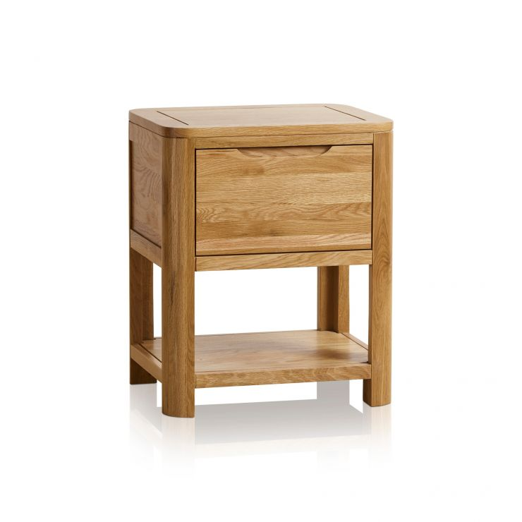Romsey Natural Solid Oak 1 Drawer Bedside  - Image 5