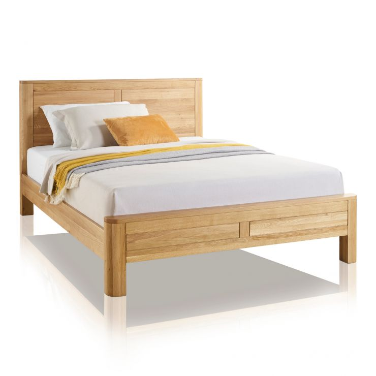"Romsey Natural Solid Oak 4ft 6"" Double Bed - Image 4"