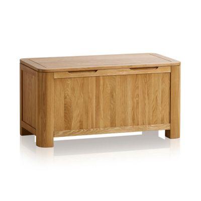 Romsey Natural Solid Oak Blanket Box