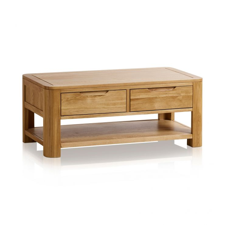 Romsey Natural Solid Oak Coffee Table - Image 5