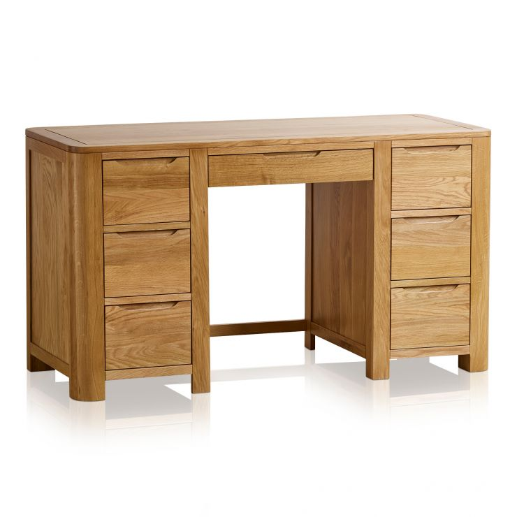 Romsey Natural Solid Oak Computer Desk - Image 1