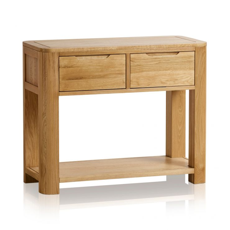 Romsey Natural Solid Oak Console Table - Image 6