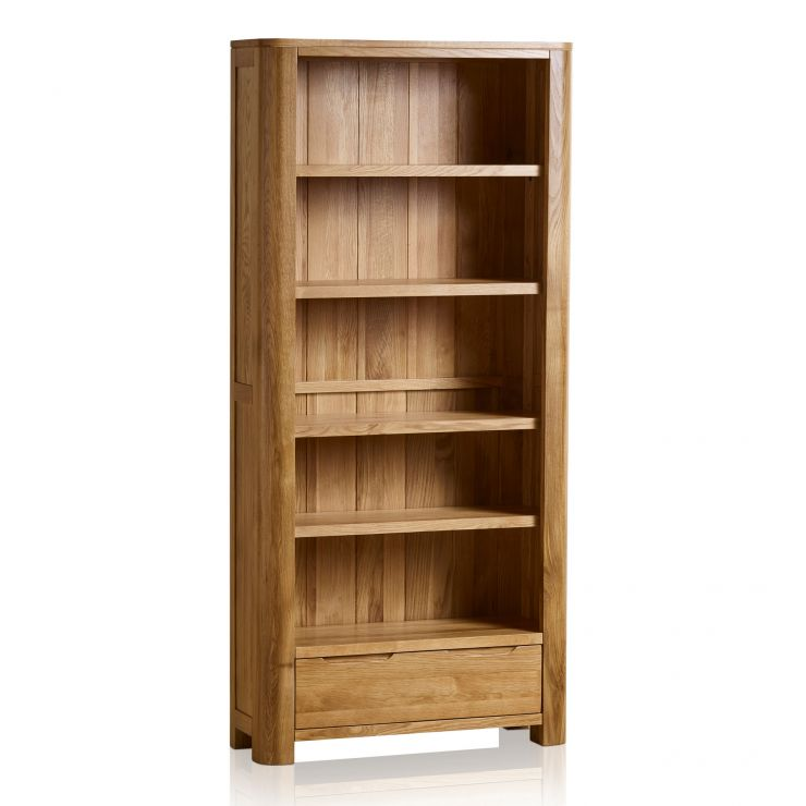 Romsey Natural Solid Oak Tall Bookcase - Image 5