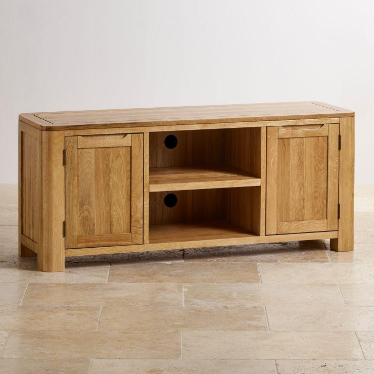 Romsey Natural Solid Oak Large TV Unit - Image 5