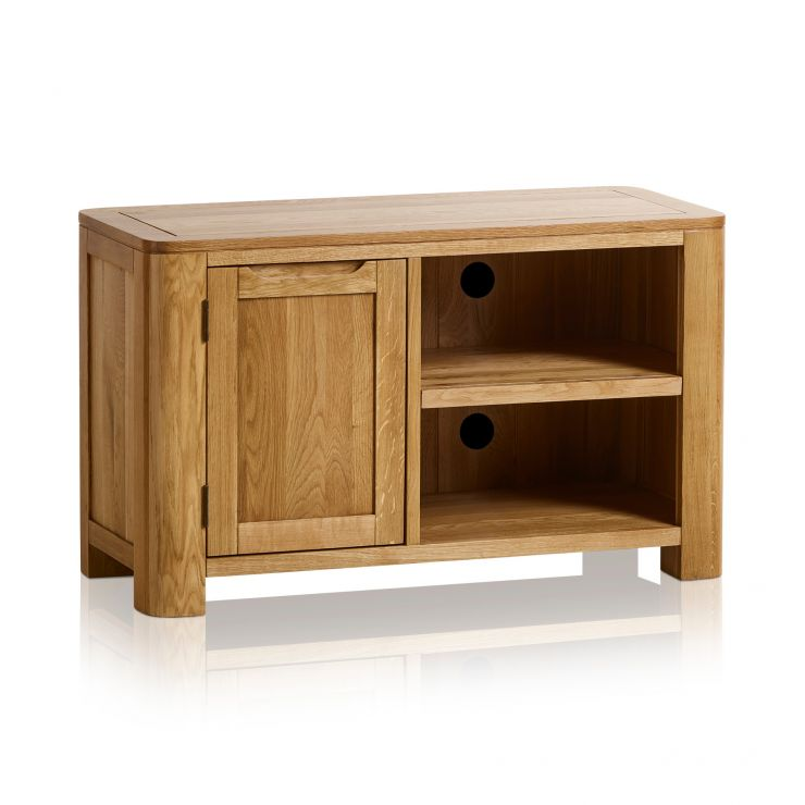 Romsey Natural Solid Oak Small TV Unit - Image 5