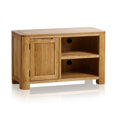 Romsey Natural Solid Oak Small TV Unit