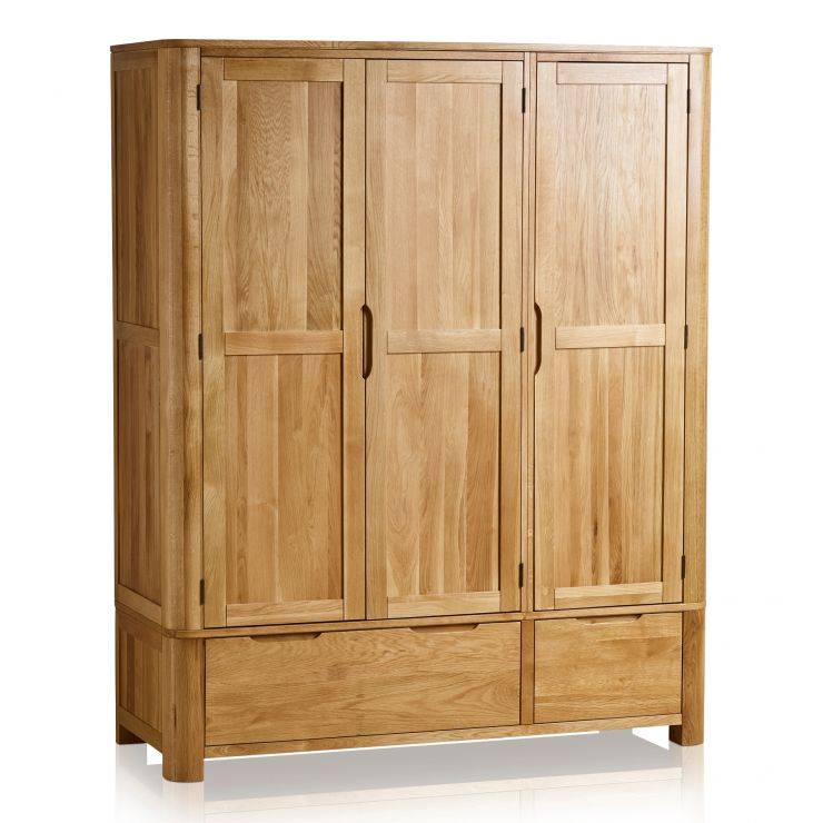 Romsey Natural Solid Oak Triple Wardrobe