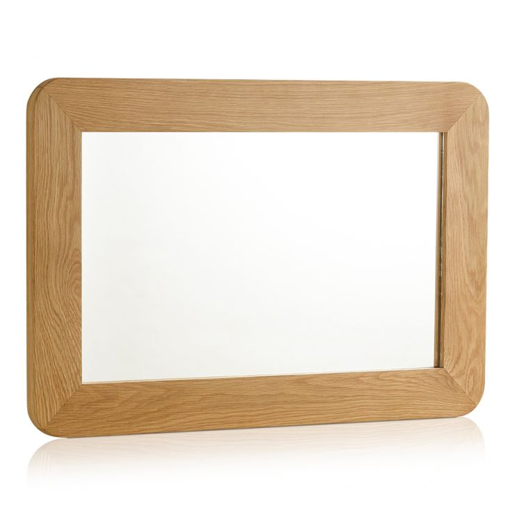 Romsey Natural Solid Oak Wall Mirror - Image 4