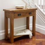 Original Rustic Solid Oak Console Table - Thumbnail 3