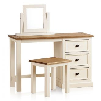 Shutter Brushed Oak and Painted Dressing Table Set
