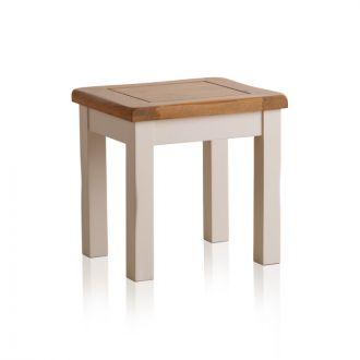 Kemble Rustic Solid Oak and Painted Dressing Table Stool