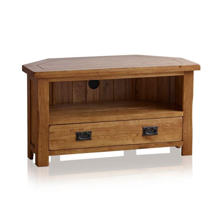 the best attitude 49173 7a2ff Original Rustic Solid Oak Corner TV Cabinet