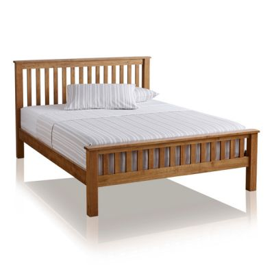 "Original Rustic Solid Oak 4ft 6"" Double Bed"
