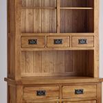 Original Rustic Solid Oak Small Dresser - Thumbnail 5