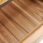 Boston Natural Solid Oak and Metal 3+4 Chest of Drawers - Thumbnail 4
