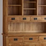 Original Rustic Solid Oak Large Dresser - Thumbnail 5