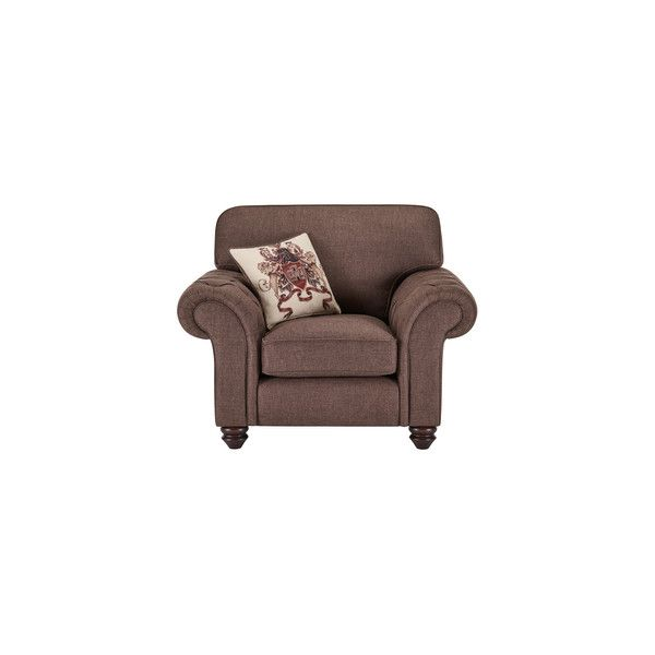 Sandringham Armchair in Brown with Beige Scatter