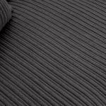 Sasha 4 Seater Sofa in Charcoal Fabric - Thumbnail 5