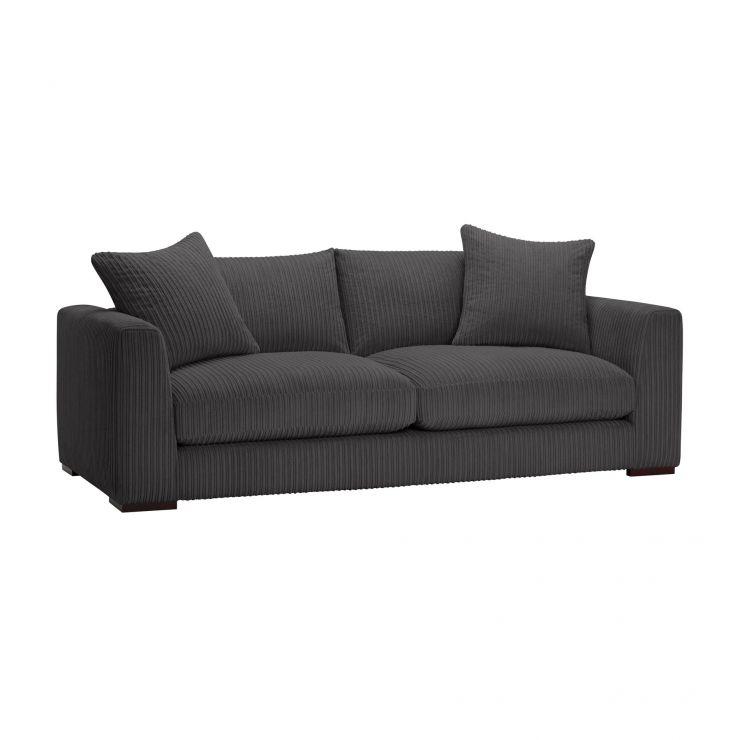 Sasha 4 Seater Sofa in Charcoal Fabric - Image 9