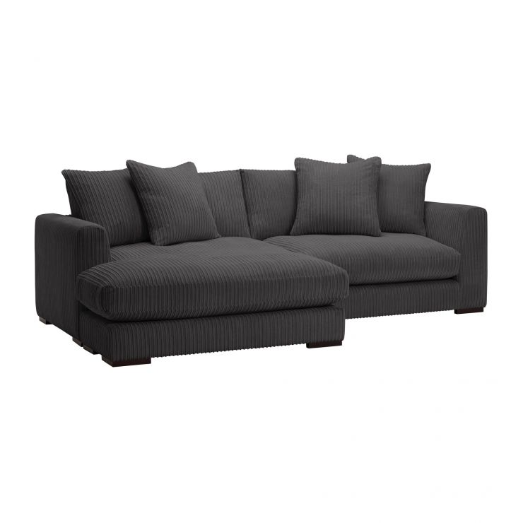 Sasha Left Hand 4 Seater Lounger in Charcoal Fabric  - Image 7