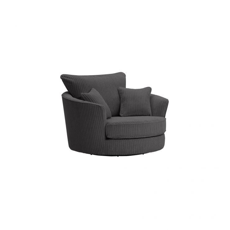 Sasha Swivel Chair in Charcoal Fabric - Image 8