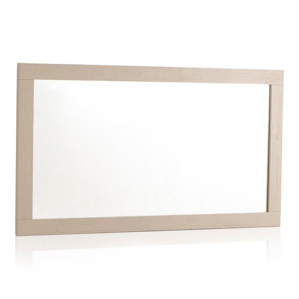 "Seychelles Painted and Brushed Solid Oak 43.5"" X 22"" Wall Mirror"