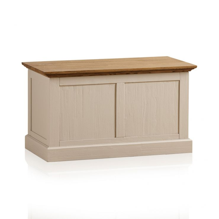Seychelles Painted and Brushed Solid Oak Blanket Box - Image 6