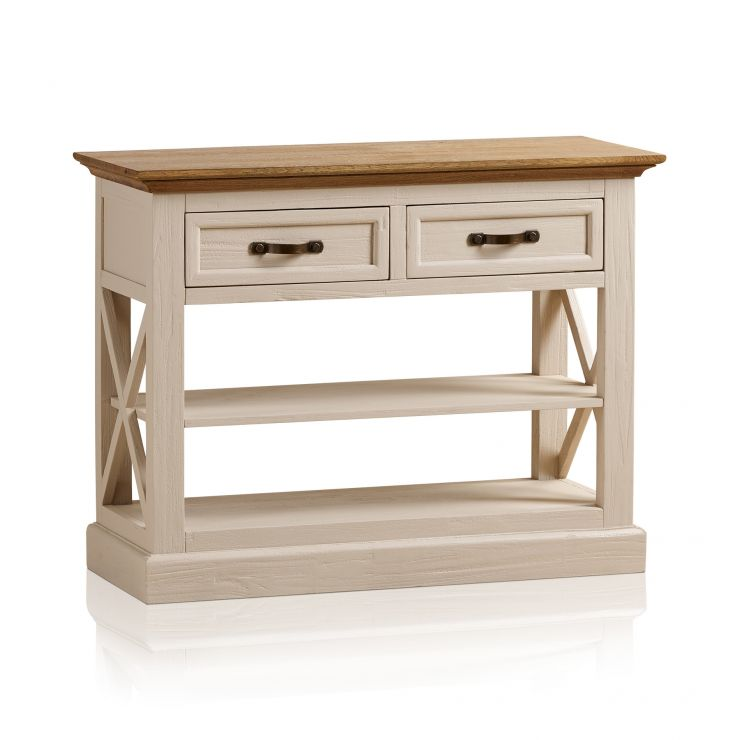 Seychelles Painted and Brushed Solid Oak Console Table - Image 10