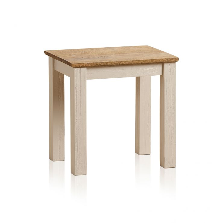 Seychelles Painted and Brushed Solid Oak Dressing Table Stool - Image 4