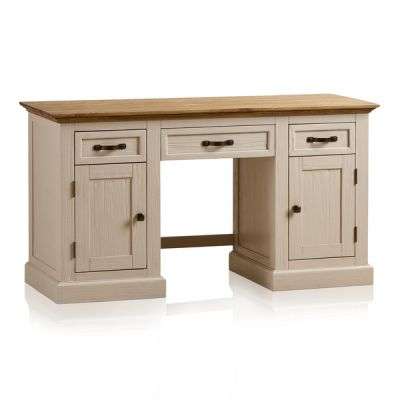 Seychelles Painted and Brushed Solid Oak Office Desk