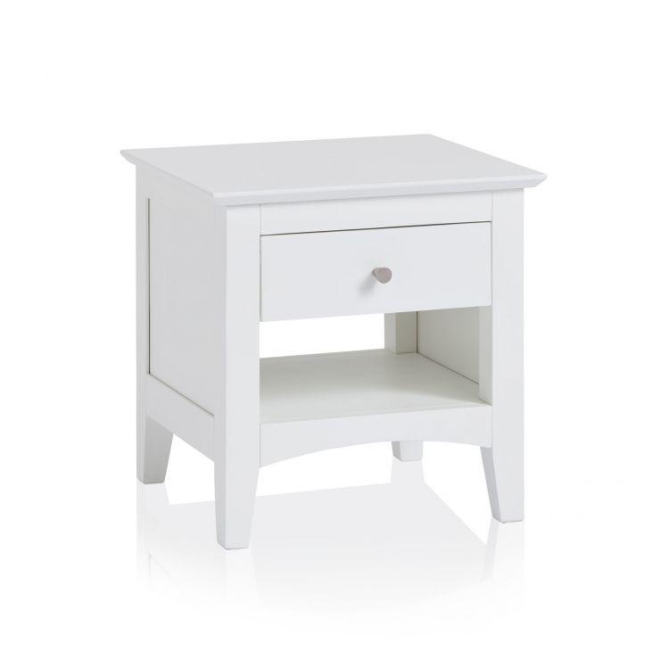 Shaker Painted Hardwood 1 Drawer Side Table - Image 4