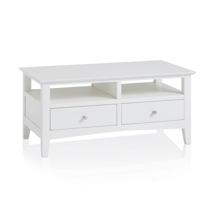 Shaker White Painted Hardwood Coffee Table - Image 4