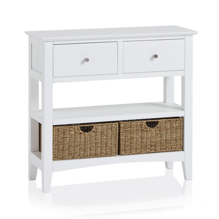 White Console Table White Hallway Table Oak Furnitureland
