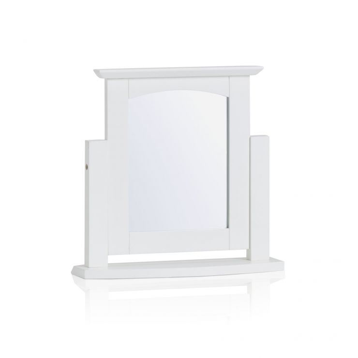 Shaker White Painted Hardwood Dressing Table Mirror - Image 4