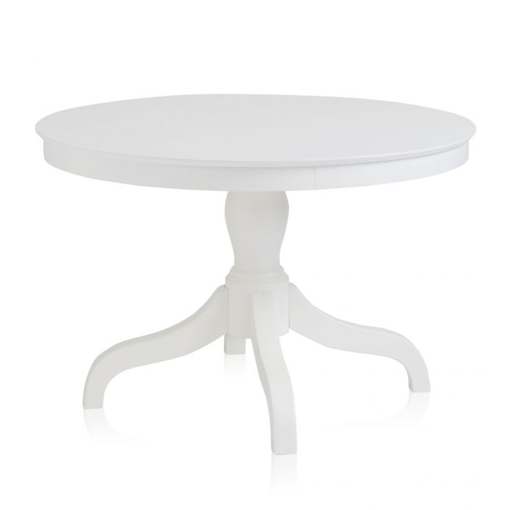 Shaker White Painted Hardwood Round Dining Table