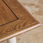Shay Rustic Oak and Painted 5ft x 3ft Extending Dining Table - Thumbnail 7