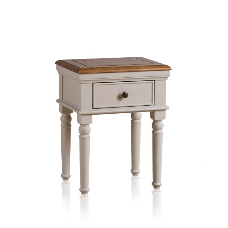 Shay Rustic Oak and Painted Lamp Table - Image 5