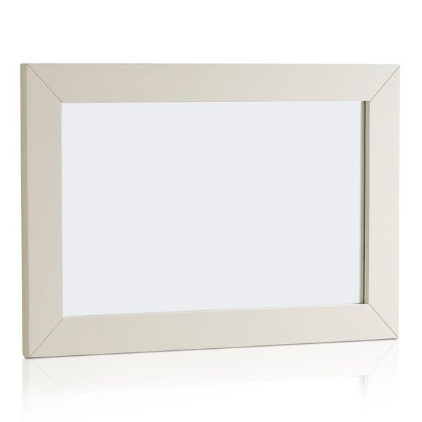 Shutter Brushed Oak and Painted 900mm x 600mm Wall Mirror