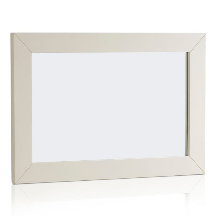 Shutter Brushed Oak and Painted 900mm x 600mm Wall Mirror - Image 4