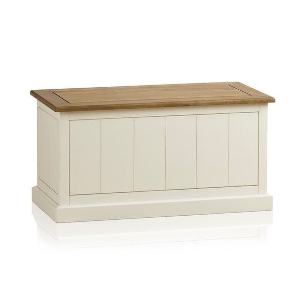 Shutter Brushed Oak and Painted Blanket Box
