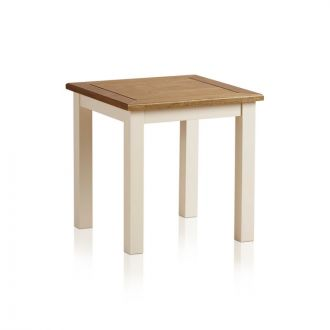 Shutter Brushed Oak and Painted Dressing Stool