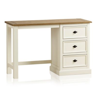 Shutter Brushed Oak and Painted Dressing Table